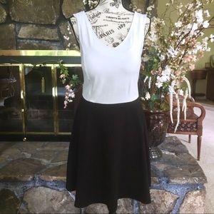 Cynthia Rowley Black and White Sleeveless Dress